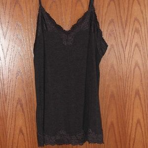 Charcoal Heather Cammie with Lace